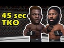 Francis Ngannou is BACK via TKO over Curtis Blaydes in 45 seconds