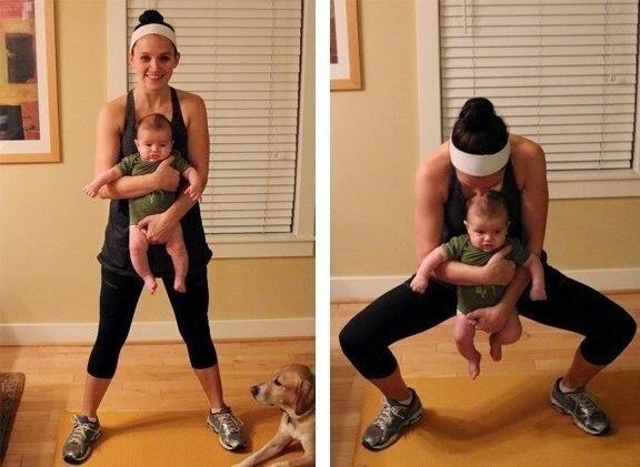 Վարժություններ՝ մայրիկների և նորածինների համար (ֆոտոշարք)