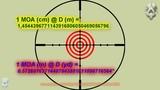 Rifle Scope Zeroing and Some Math - Ajuste de Lunetas, Mil Dot, MOA