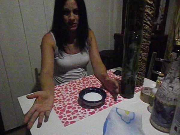 Ensinando a fazer garrafa dupla com tecido torcido