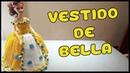 Vestido de Bella a crochet para Muñeca