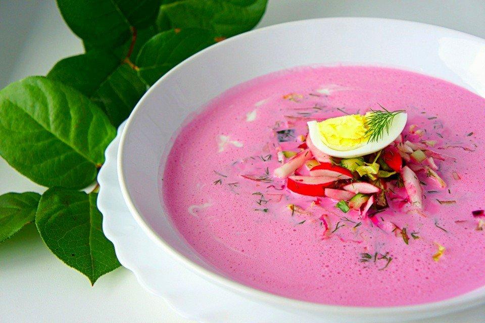 Холодный летний суп со свеклой и кефиром Ингредиенты: Кефир