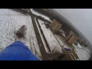 Тренировочный полёт авиамодели Л-39 у гостиницы