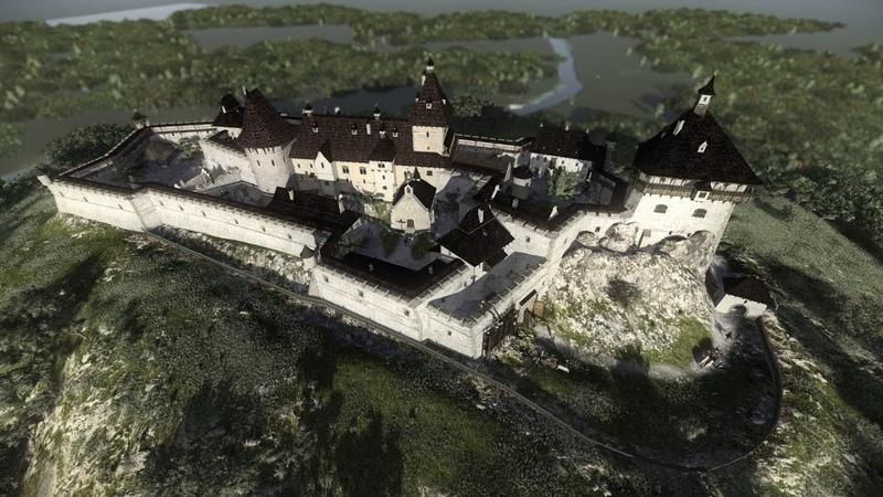 Хустский замок 3D-реконструкция