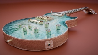 CGC Classic: Modeling and Texturing an Electric Guitar - Pt 4 (Blender 2.6)
