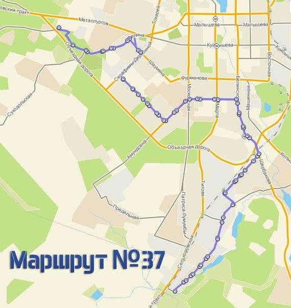 Схема движения маршрутов