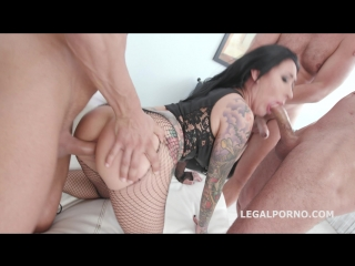 Monsters of DAP, Lily Lane gets 5on1 Balls Deep Anal, DAP, TP, Gapes, Airplane, Swallow