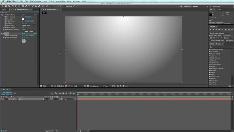 Создание фона на стене Cyc в After Effects