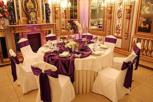 Декор банкетного зала на свадьбу