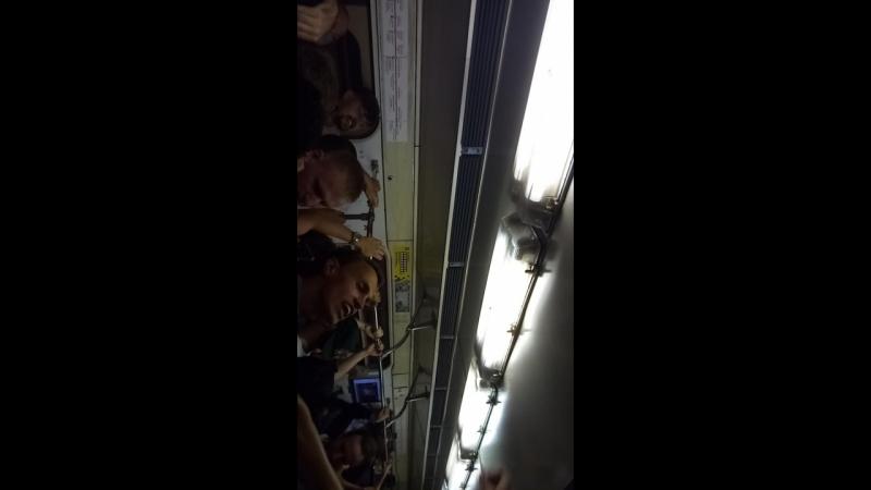 Английские фанаты в московском метро