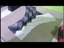 Torso con tecnica de origami bambu de dos colores
