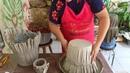 Vasos de tecido e cimento fácil para iniciantes