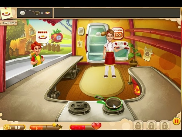 Игры в Одноклассниках: Своё кафе прохождение уровня №2 Обзор сковородок