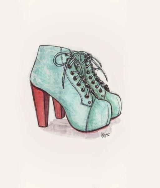 Картинки туфельки для срисовки