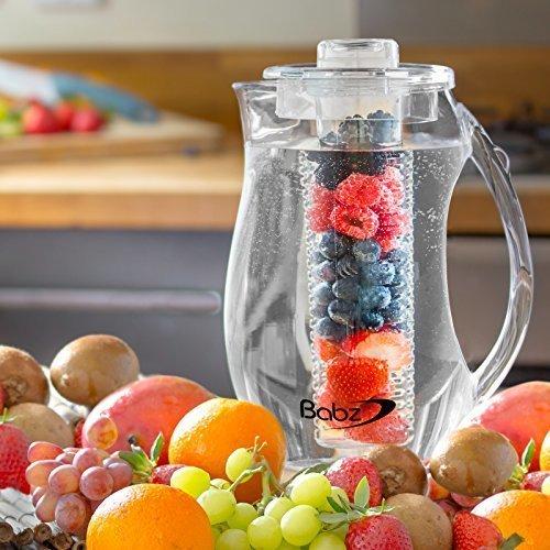 Кувшин для напитков с колбой для льда или фруктов Отлично подойдет для компотов и свежих соков колба не позволит ягодам