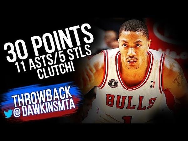 Derrick Rose Full Highlights 2010.12.4 vs Rockets - 30 Pts, 11 Ast, 5 Stls, CLUTCH! | VintageDawkins