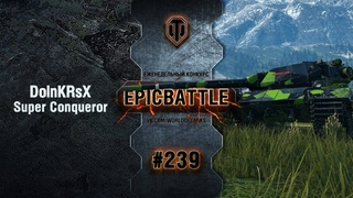 EpicBattle #239: DolnKRsX / Super Conqueror World of Tanks