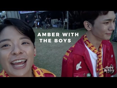 Amber interactions with male idols part 2