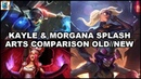 Kayle Morgana Rework 2019 - All Skins Splash Arts Comparison OLD and NEW