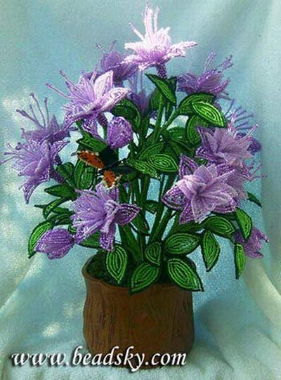 Схемы плетения цветов из
