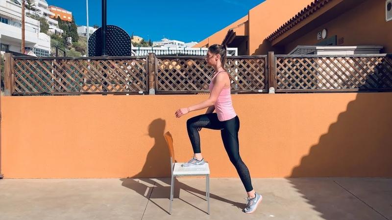 Поочередные подъемы на стул как похудеть в ногах дома