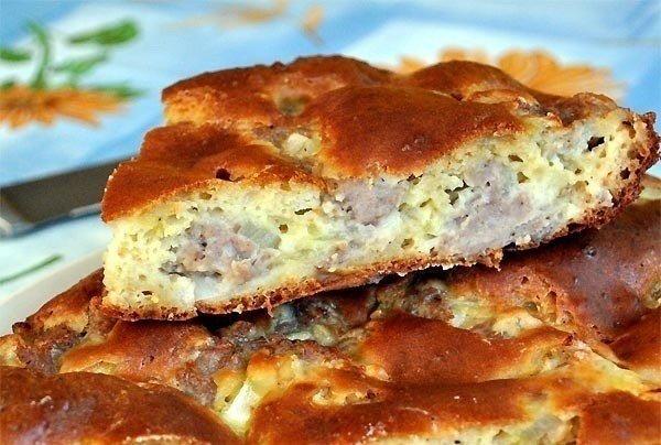 Пирог с мясом «Легче не бывает».