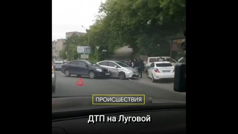 ДТП на Луговой, в районе шиномонтажа