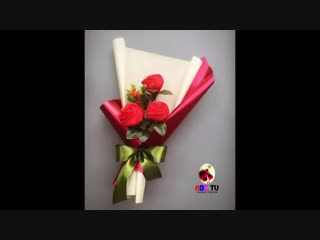 ABC TV _ How To Make Flower Bouquet With Three Rose - Craft Tutorial.mp4