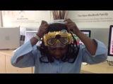 Подводная маска с встроенной видеокамерой и трубка (видео маска камера для подводного плавания и подводной съемки) 3