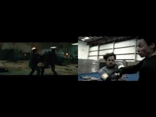 Воссоздана сцена драки из «Бэтмена против Супермена»