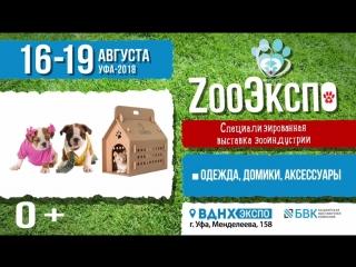 Первая выставка ЗооЭкспо, г.Уфа, ВДНХ ЭКСПО 16-19 августа2018