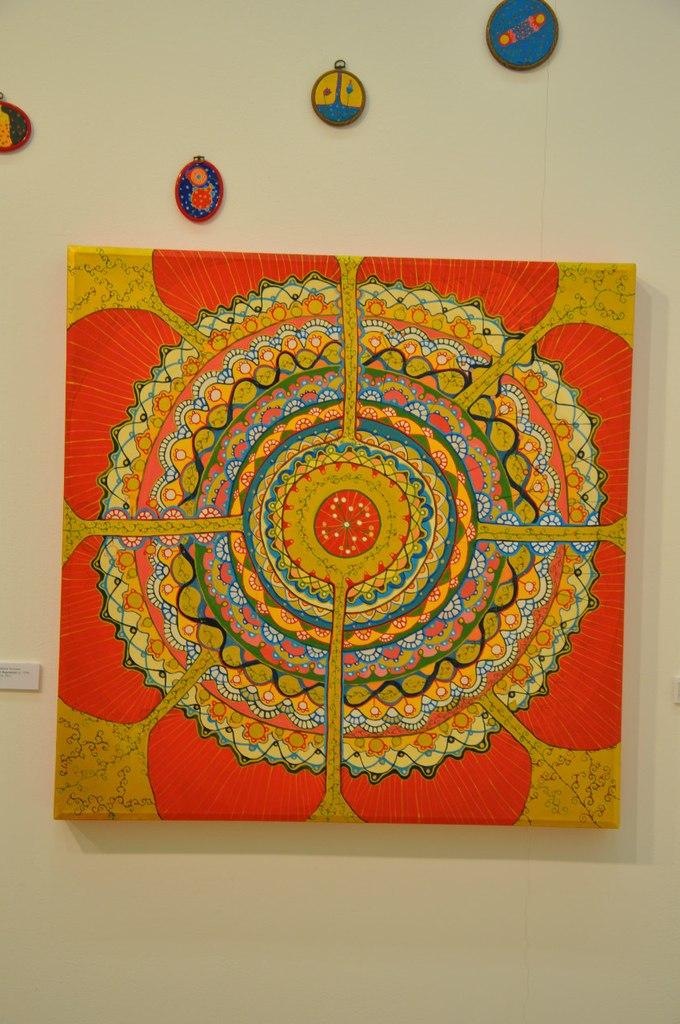 Союз художников Эстонии  Пуса (Пирет Бергманн) (р. 1979)  Неоткрытые миры III. 2010  Холст, акрил
