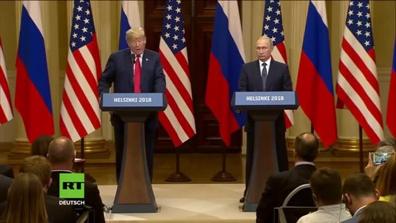 Denn davon hängt der Weltfrieden ab - Putin und Trump geloben Verbesserung der Beziehungen