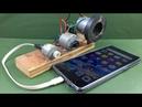 Free Energy 100% Mobile Charging self running machine generator using DC Motors