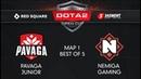Pavaga Junior vs Nemiga Gaming Map 1 Red Square 5 элемент Dota 2 Open Cup