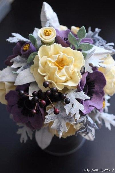 Свадебный букет из фетра с пошаговым фото