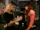 Trish Stratus Lita Brawl Backstage (RAW May 10, 2004)