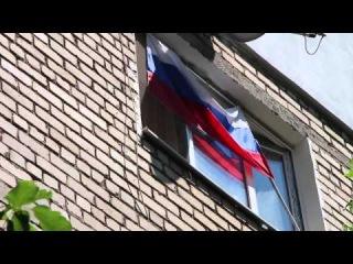 Видео никого не оставит равнодушным.Бабка жжет вывесила флаг России в Николаеве! Версия Full HD