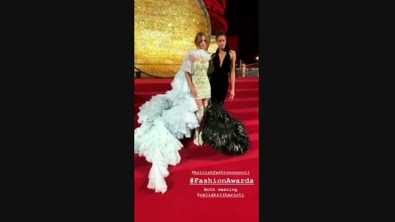 Жозефин на British Fashion Awards в Лондоне — 10 декабря