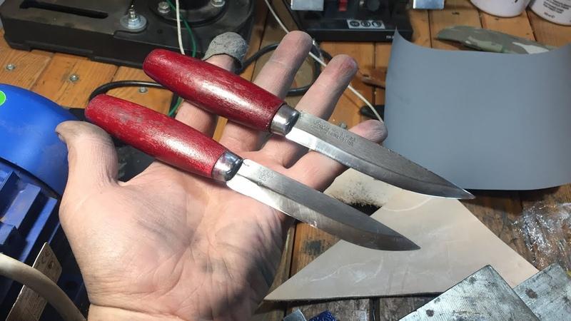 Ножі Mora після реставрації та думка що до ламінованної сталі .