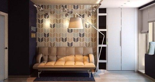 Ультрасовременный дизайн интерьера маленькой гостиной… (5 фото) - картинка