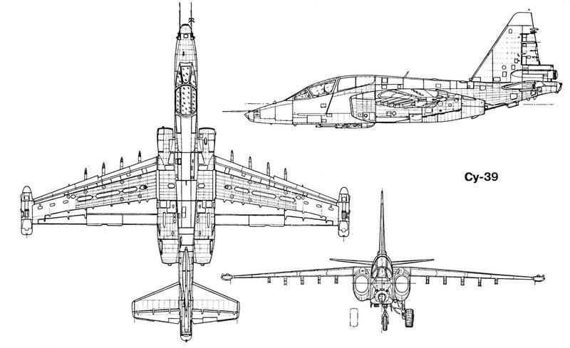 чертеж самолета