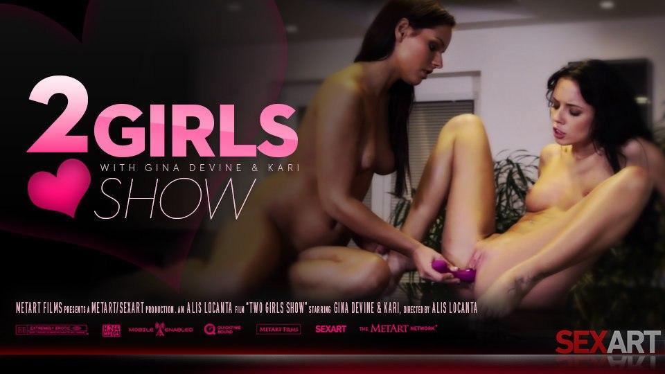 Gina Devine And Kari A 2 Girl Show SexArt