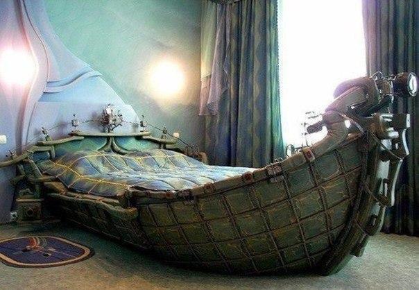 Кровать настоящего мореплавателя.