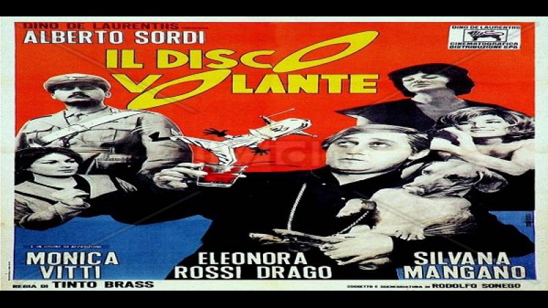 Tinto Brass 1964 Il disco volante Alberto Sordi Monica Vitti Silvana Mangano Eleonora Rossi Drago