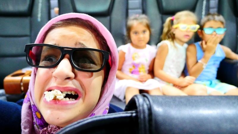 Fındık ailesi anneanne ile 3D Sinemada. Komik video