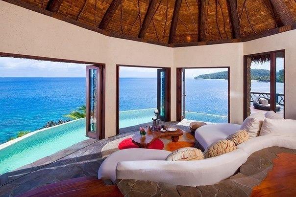 Роскошный отель Laucala на частном