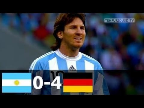 🔥 Германия - Аргентина 4-0 - Обзор Матча Четвертьфинал Чемпионата Мира 03/07/2010 HD 🔥