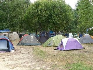 Палаточный лагель гостей фестиваля