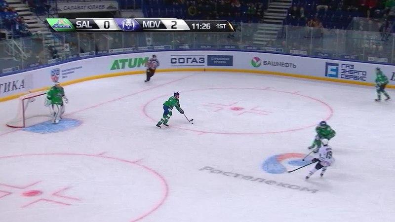 Моменты из матчей КХЛ сезона 14/15 • Гол. 0:3. Геноуэй Колби (Медвешчак) замкнул на дальней 09.10